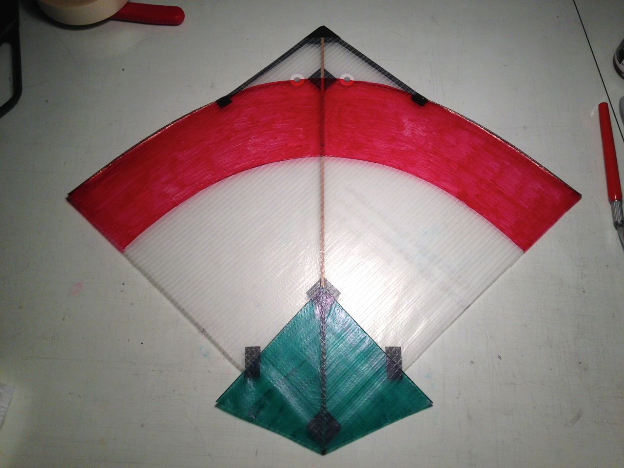 My variant of the classic indian fighter kite lines and for Decoration kite